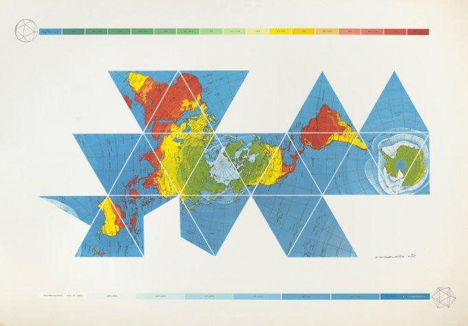 Dymaxion Air-Ocean World Map
